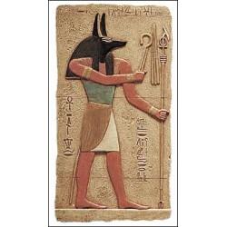 Relieve pintado dios Anubis 29 cm
