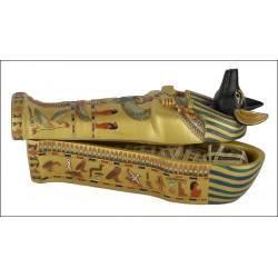 Sarcófago Anubis pño 12cm