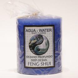 Vela Cilindro Feng Shui Agua 80x70